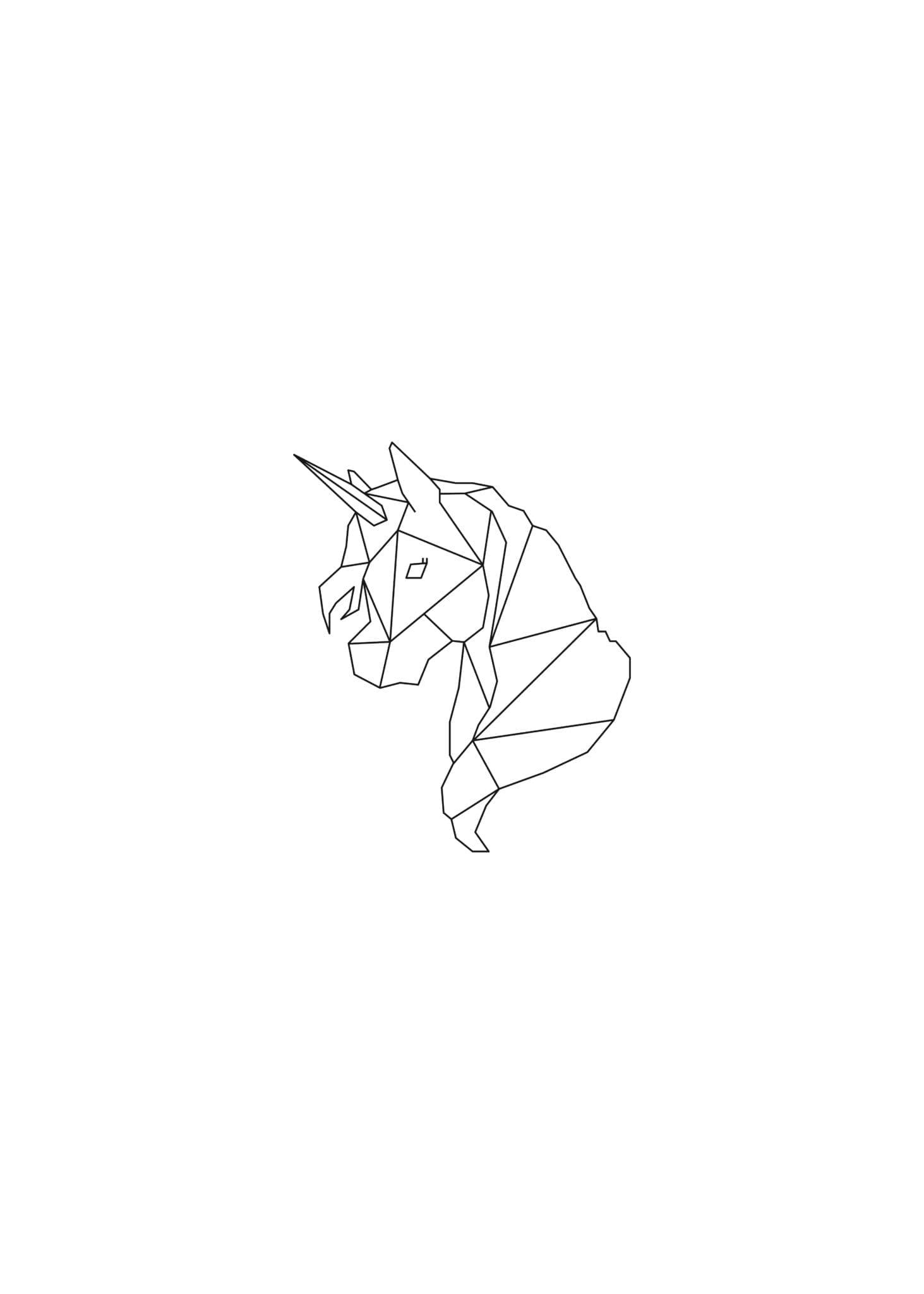 Lined Unicorn