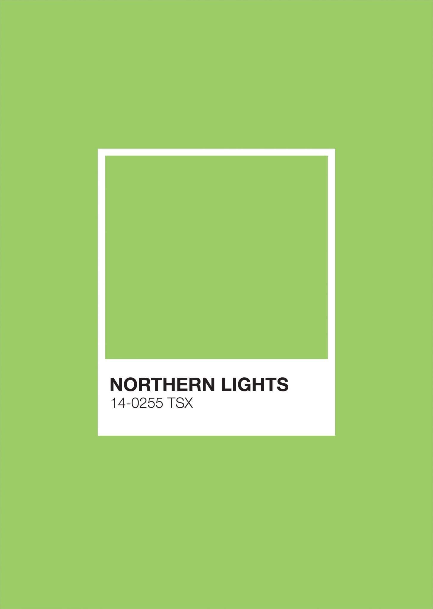 Iceland Pantone: Northern Lights