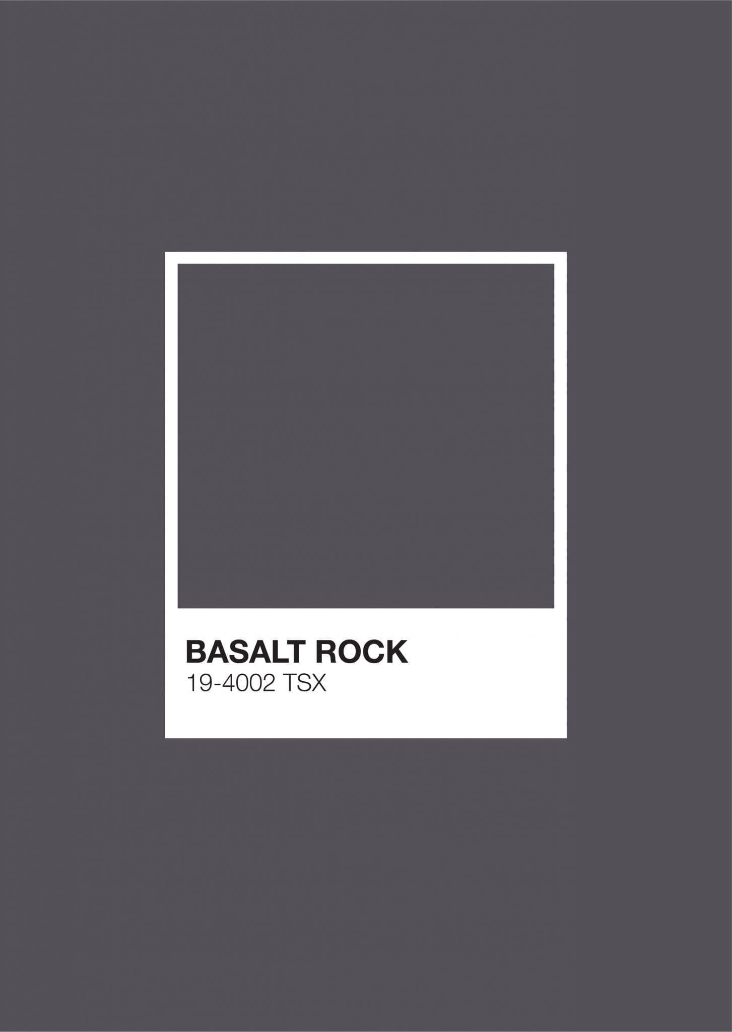 Iceland Pantone: Basalt Rock