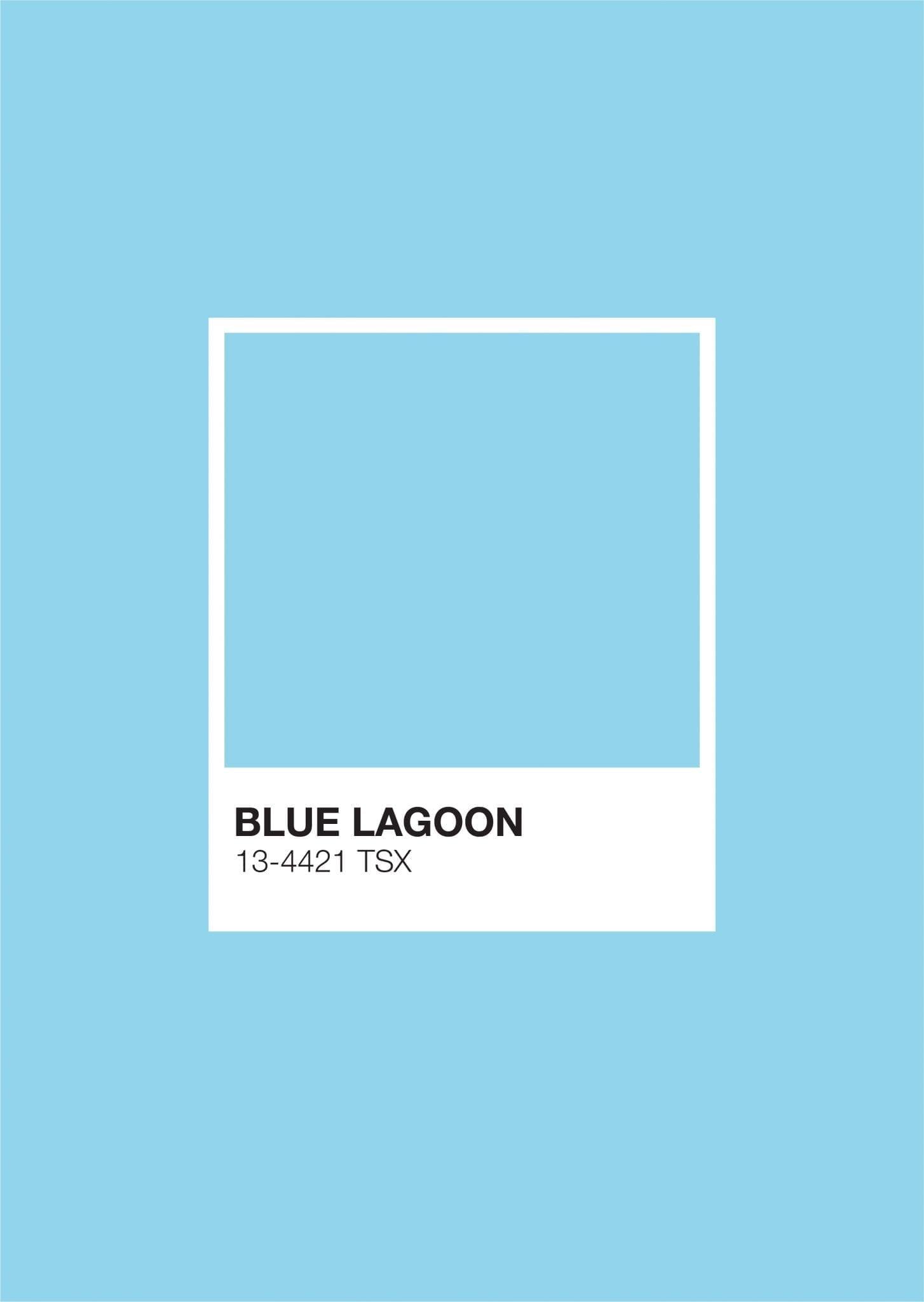 Iceland Pantone: Blue Lagoon
