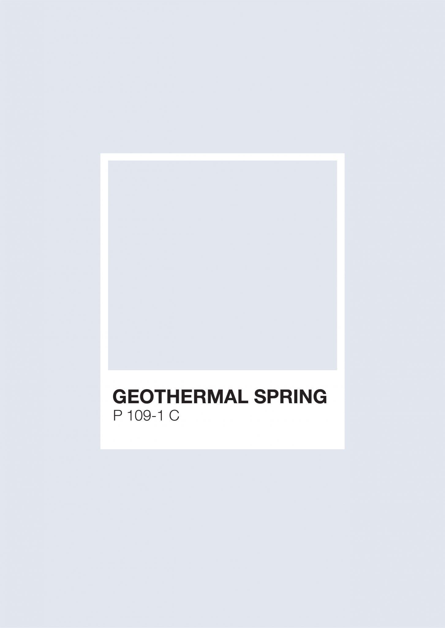 Iceland Pantone: Geothermal Spring