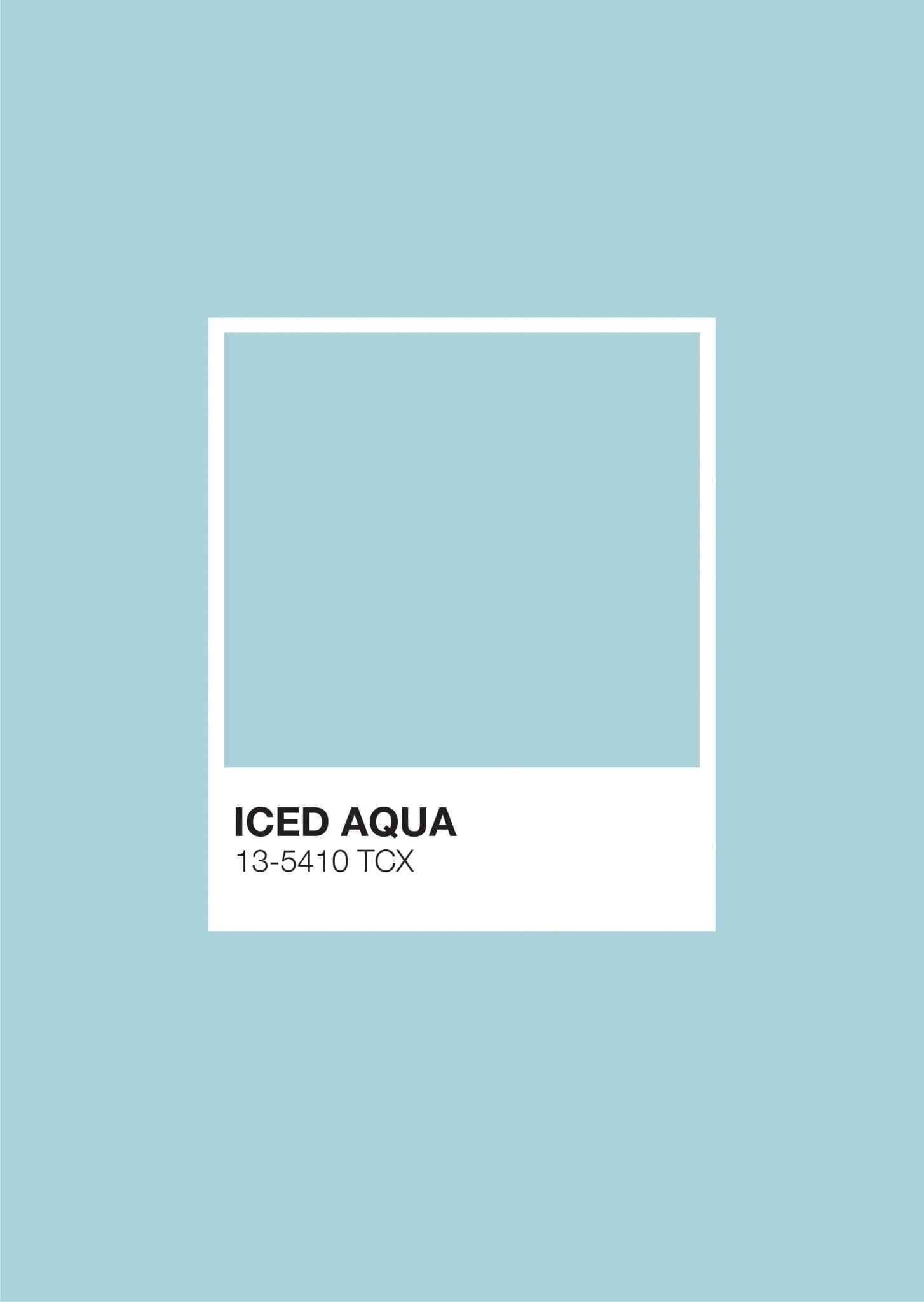 Pastel Pantone: Iced Aqua