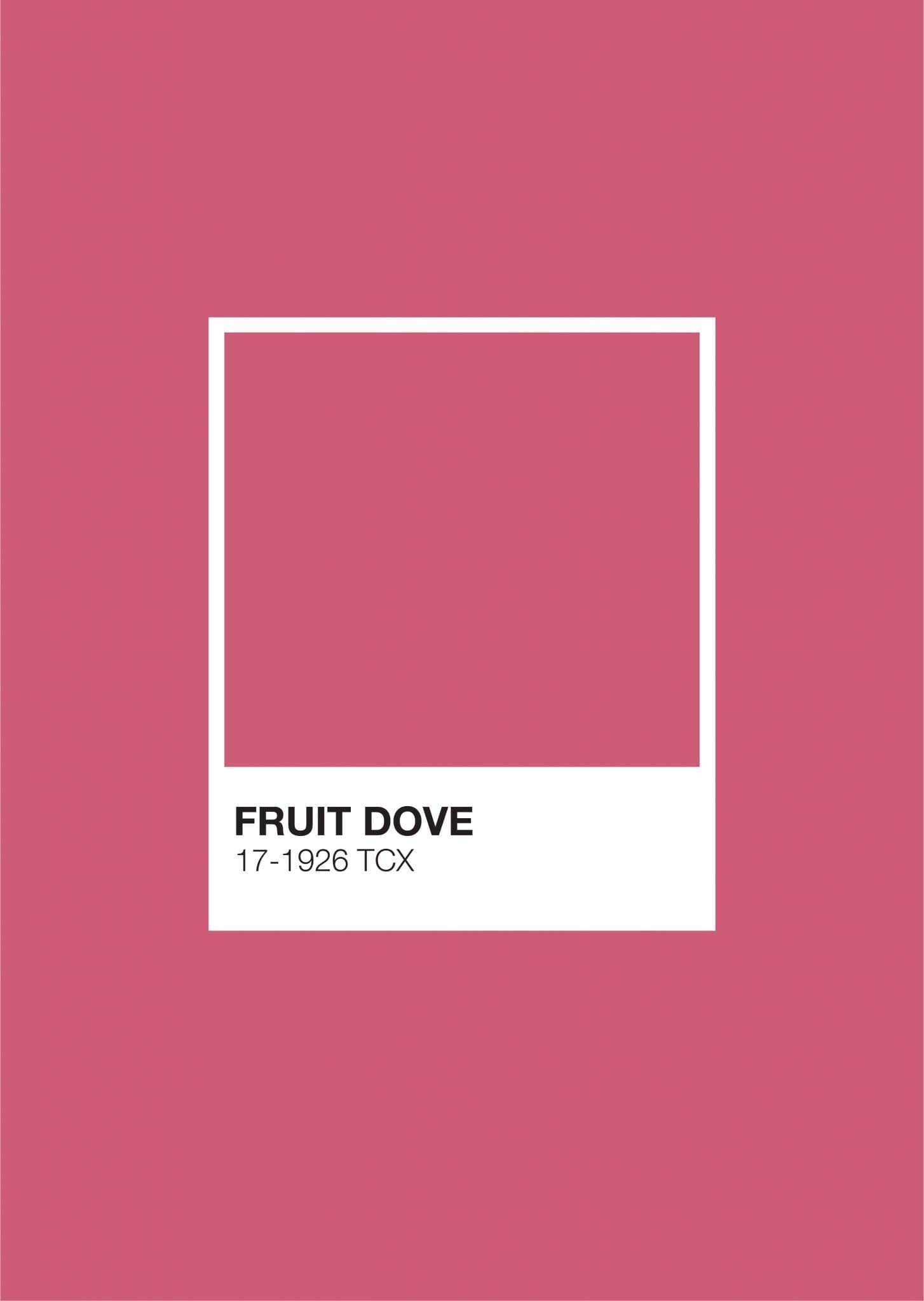 Pastel Pantone: Fruit Dove