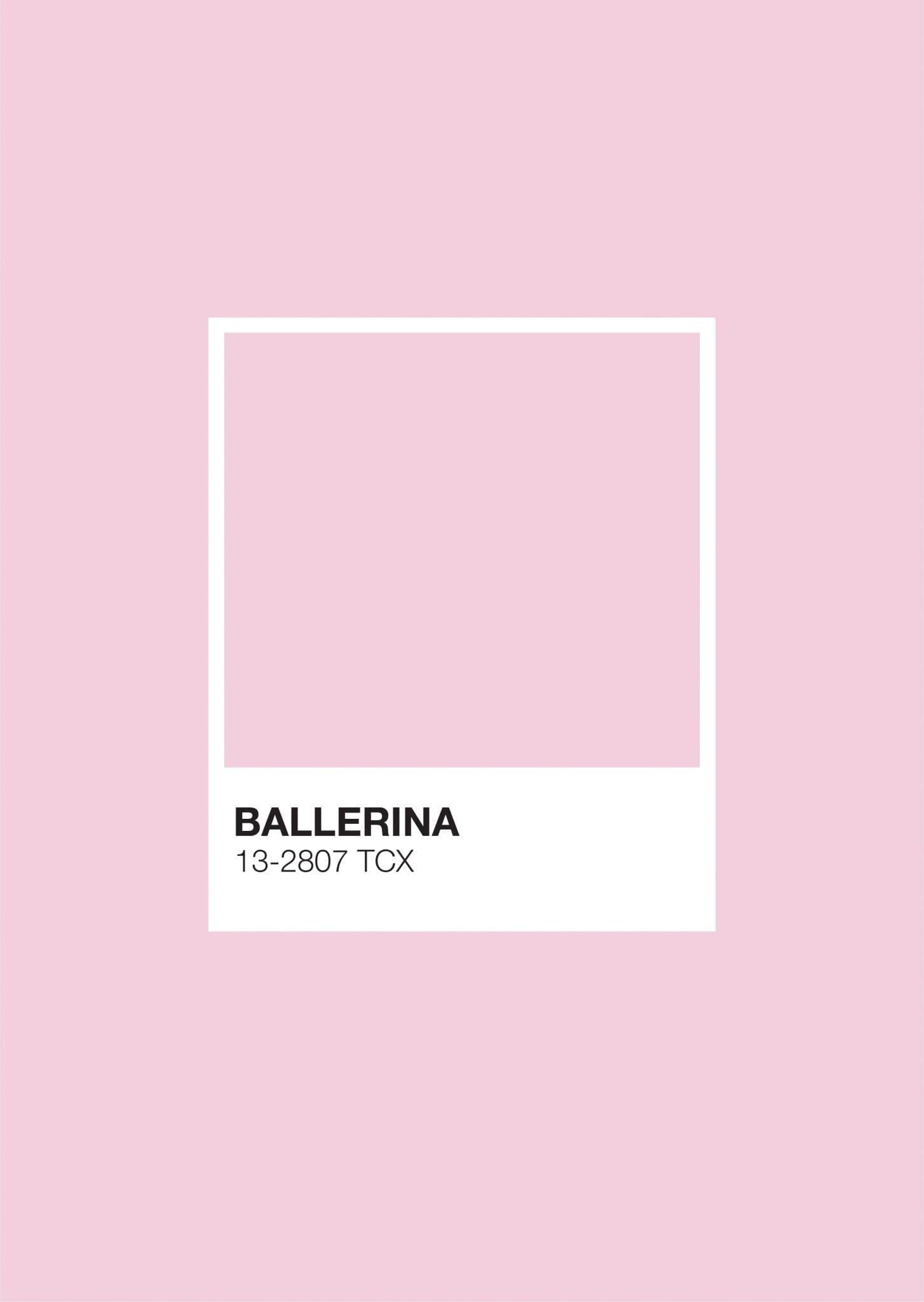 Pastel Pantone: Ballerina