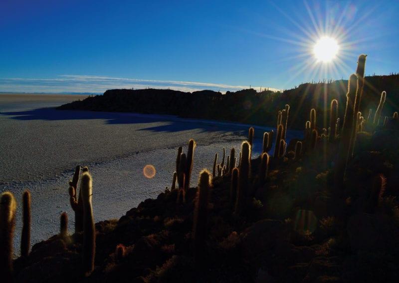 La isla en medio del Salar de Uyuni